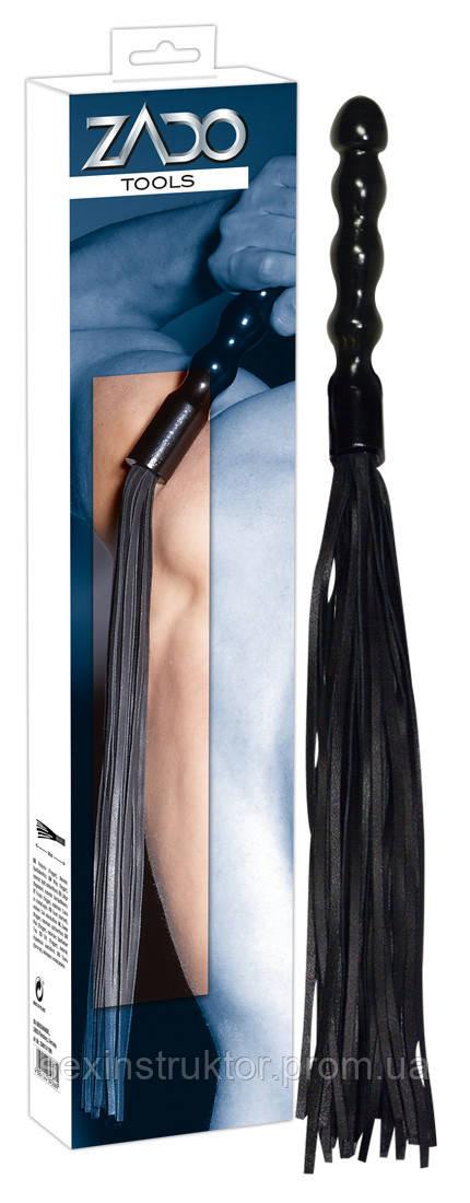 Плетка - 2040174 Leder Peitsche Holzgriff, black
