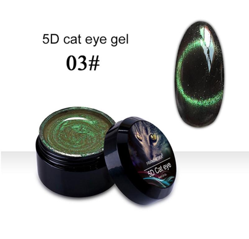 Гель-лак 5D Cat Eye Gel Francheska 03, 8 ml