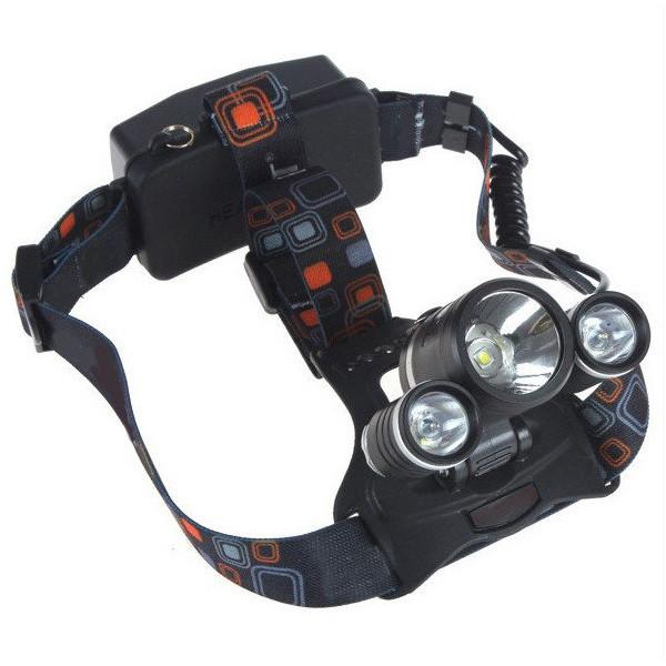 Налобный фонарь X-Balog BL-6811 3 диода Черный (1021)