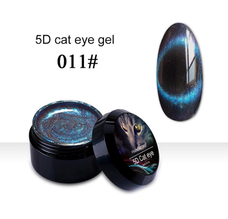 Гель-лак 5D Cat Eye Gel Francheska 11, 8 ml