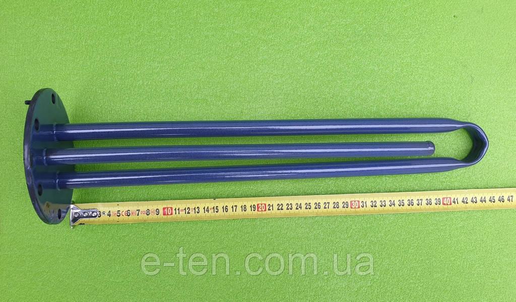 Фланець-колба Ø125мм (ОРИГІНАЛ) під сухі тени для бойлерів TESY / L=440мм / 6 отворів (в склокераміці))