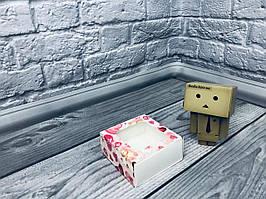 *50 шт* / Коробка для пряников / 80х80х35 мм / печать-Мишарики / окно-обычн / лк