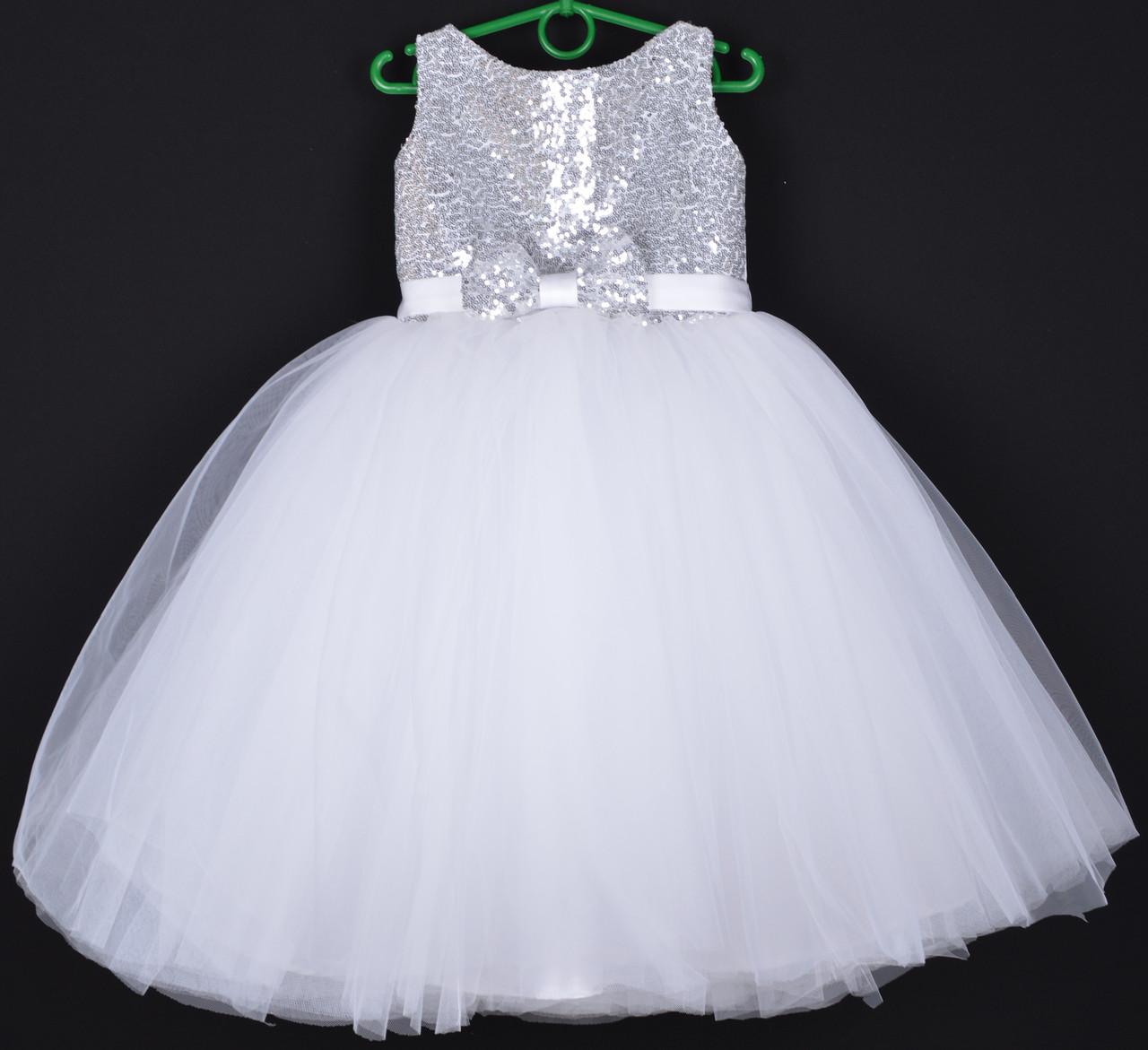 """Платье нарядное детское """"Заринка"""". 5-6  лет. Белое. Оптом и в розницу"""