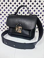 Сумка-клатч женская натуральная кожа, черная Портофино 334, фото 1