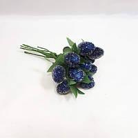"""Искусственные  ягоды малины""""стеклянные"""" для декора синие(1 набор - 10шт), фото 1"""