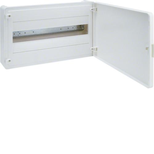 Щит наружной установки 18 мод. GOLF Hager с белыми дверцами (VS118PD)