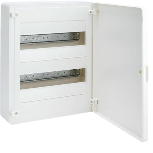 Щит наружной установки 24 мод. GOLF Hager с белыми дверцами (VS212PD)