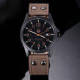 Стильные мужские часы коричневые, фото 3