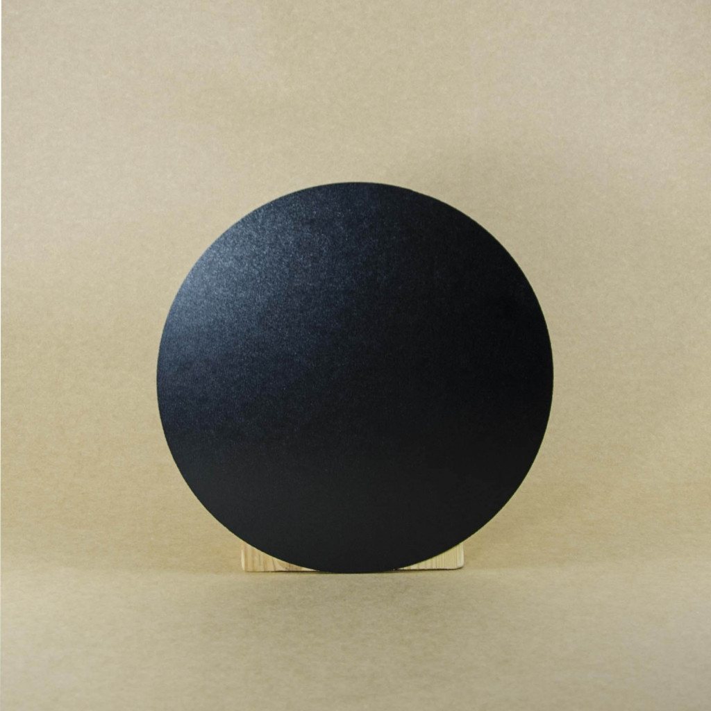 Подставка поднос заготовка (черная с одной стороны) ДВП круглая 300 мм. Підставка, заготовка для творчості