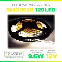 Светодиодная лента Специалист 12В 120LED/m SMD3528 IP20 (для подсветки и освещения) 9,6 Вт/м, фото 1