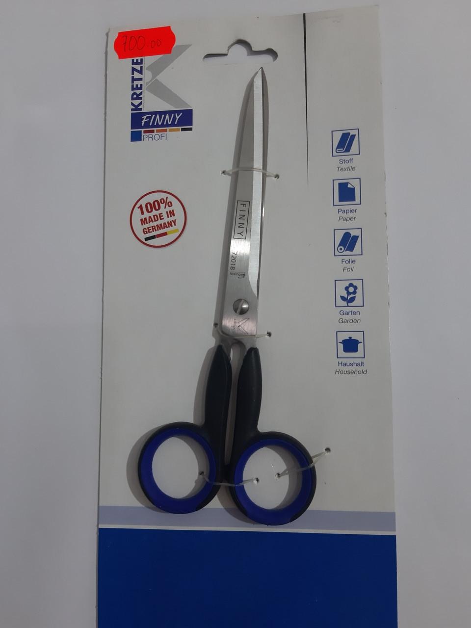 """Ножницы 180мм (9"""") для тяжелых тканей с острыми концами """"Kretzer"""" FINNY 772018"""
