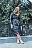 Модная двухсторонняя зимняя непромокаемая длинная куртка-пальто с капюшоном, батал большие размеры, фото 2