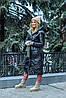 Модная двухсторонняя зимняя непромокаемая длинная куртка-пальто с капюшоном, батал большие размеры, фото 8