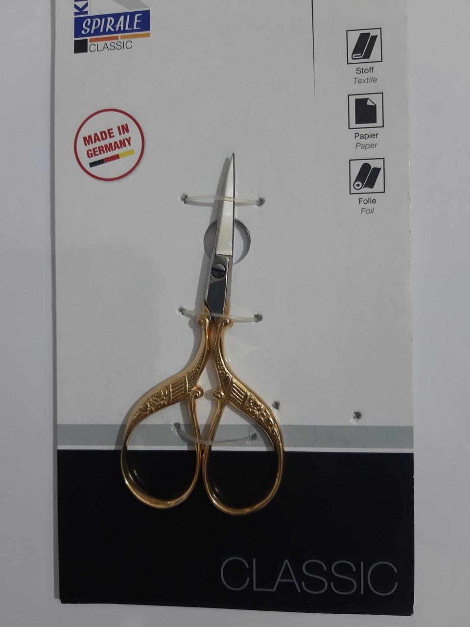 "Ножницы 90мм (3,5"") для вышивания (цапельки) ""Kretzer"" SPIRALE 110809"