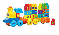 Конструктор Mega Bloks - Музыкальный паровозик, звук (Musical Train), 50 дет, 1+ (FWK22)
