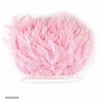 Перьевая тесьма из перьев индюка на атласной ленте .Разные цвета.