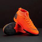 Детские футбольные кроссовки  Nike Superfly 6 Academy GS IC Оригинал  AH7343-810, фото 10