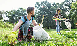Очистка участка от мусора (без учета транспортных расходов)