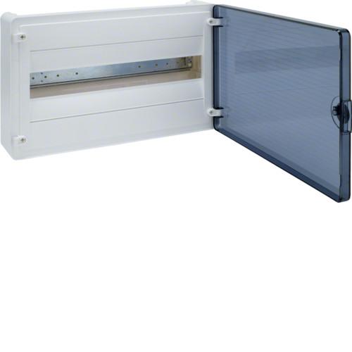 Щит наружной установки 18 мод. GOLF Hager с прозрачными дверцами ( VS118TD)