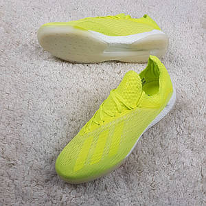 Футзалки Adidas X Tango 18.1 IC Solar Yellow, салатовые