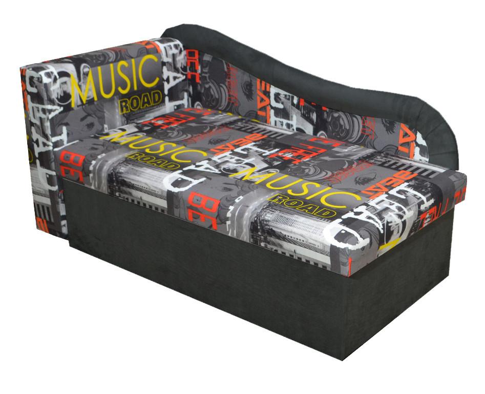 Детский диван Марко ЭКО Мьюзик графит + серый