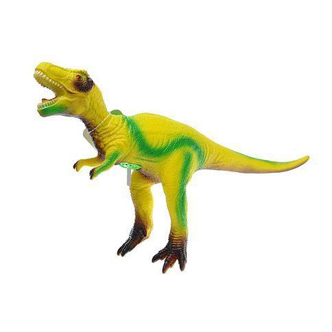 """Динозавр резиновый """"Тираннозавр"""", со звуком (желтый) SC067"""