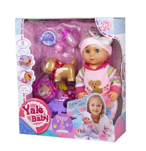 Пупс Yale baby интерактивний розовый YL1862C