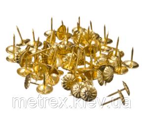 Гвозди декоративные обивочные Хром, 100 шт.