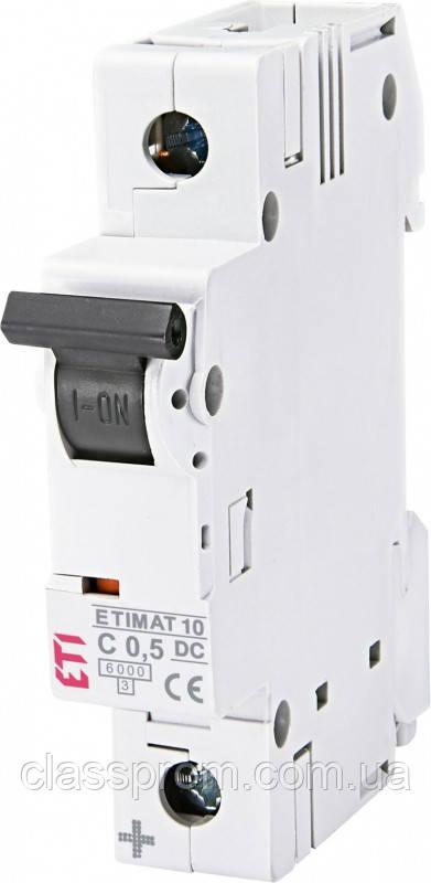 Автоматический выключатель  ETIMAT 10  DC 1p C 0,5A (6 kA), ETI, 2137701