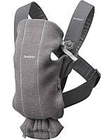 Рюкзак-кенгуру Baby Bjorn Carrier Mini (от 3,2 кг до 11 кг) Dark grey 3D, Jersey