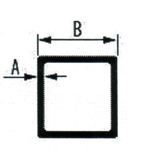 Алюминиеая квадратная труба 25*1,5 мм
