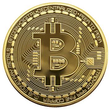 Сувенірна монета Trend-mix Биткоин Bitcoin Золотистий (tdx0000476)