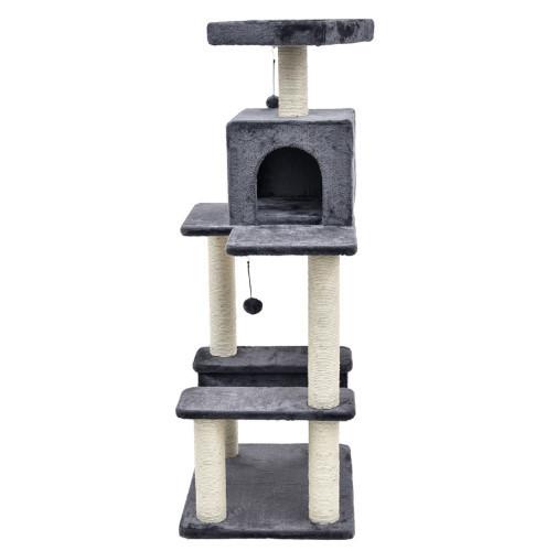 Когтеточка с домиком. Для кошек, 60х49х141см