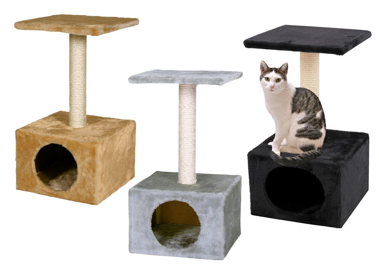 Домик-когтеточка с полкой 30х30х55см. Когтеточки для кошек
