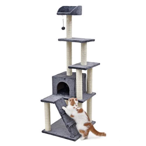 Когтеточка с домиком. Для кошек, 60х49х139см
