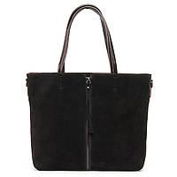 Женская сумка натуральная кожа + замш разные цвета