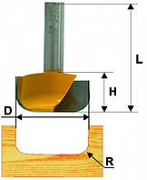 Фреза пазовая фасонная ф28.6х13, r5, хв. 8мм (арт.10635)