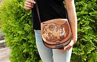 """Кожаная сумка ручной работы через плечо, эксклюзивная сумочка в стиле """"бохо"""", фото 1"""