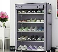 Стелаж для хранения обуви Combination Shoe Frame 60X30X90, Тканевый шкаф с полками обувный, Тканевая обувница