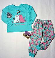 """Пижама для девочки с начесом """"Котята"""", фото 1"""