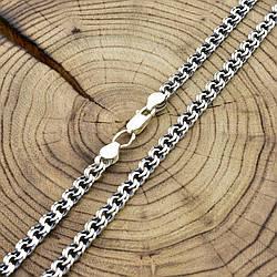 Серебряная цепочка с чернением Бисмарк длина 50 см ширина 5.5 мм вес 21.4 г