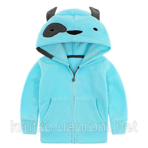 Кофта для мальчика флисовая утеплённая Дизайн, голубой Berni, фото 2