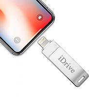 Флешка для iPhone и iPad 128GB IDRIVE Lightning / USB 2.0