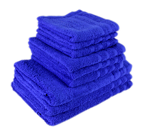 """Полотенце (70х140 см) махровое """"TerryLux Plus"""" синее, фото 1"""