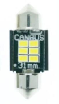 Светодиодная лампа LED лампы STELLAR SV8,5(C10W) 31мм с обманкой в подсветку номера и салона.