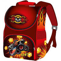 Рюкзак ортопедический для мальчика в школу Smile Машинка водоотталкивающая ткань