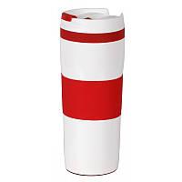Термокружка под лого вакуумная Красная