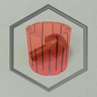 Шар графитовый керамического запорного штока INDUTHERM VC, фото 1