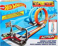 Портативный трек «Двойная петля» Hot Wheels, фото 1
