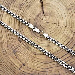 Серебряная цепочка с чернением Бисмарк длина 55 см ширина 4 мм вес 19.3 г